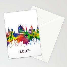 Lodz Poland Skyline Stationery Cards
