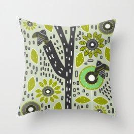 Bird wonderland Throw Pillow