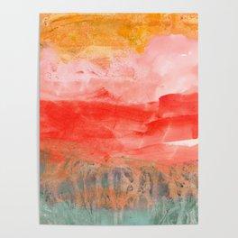 coral horizon Poster