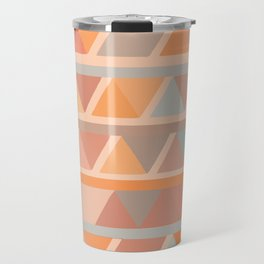 Muted Earth Tones Abstract Geometric Pattern Travel Mug