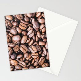 Close-up of roasted coffee beans l Food photography Stationery Cards