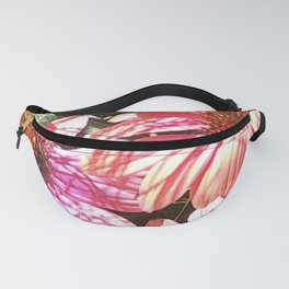 Bright Pink Summer Flowers Fanny Pack