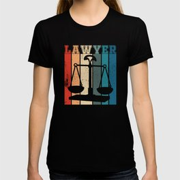 Lawyer and the scales of justice T-shirt