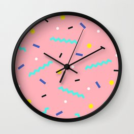 Memphis pattern 54 Wall Clock