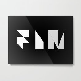 Movie Title Sequence Fin. Origami style Metal Print