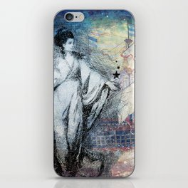 Inspire - A muse and her ship of dreams collage iPhone Skin