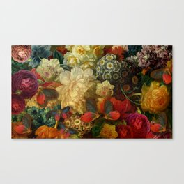 """Baroque Spring of Flowers and Butterflies"" Canvas Print"