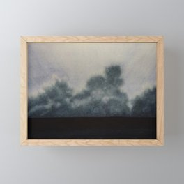 Sky and Ocean V / Watercolor Painting Framed Mini Art Print