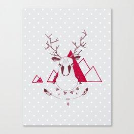 Christmas Geo Deer Canvas Print