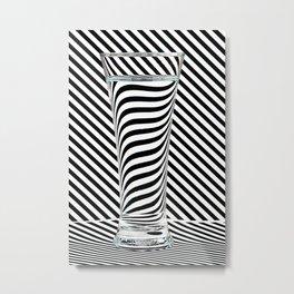 Striped Water Metal Print