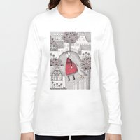 jazzberry Long Sleeve T-shirts featuring The Old Village by Judith Clay