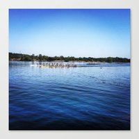 animal crew Canvas Prints featuring Crew  by Lindsay Jackson-Moses
