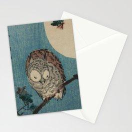 Vintage Japanese Owl Stationery Cards