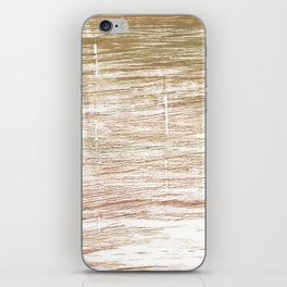 Light taupe abstract watercolor iPhone Skin