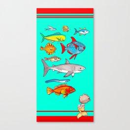 Mermaid Scientist Towel Canvas Print