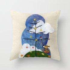 Swing Swing! Cat On A Swing Throw Pillow