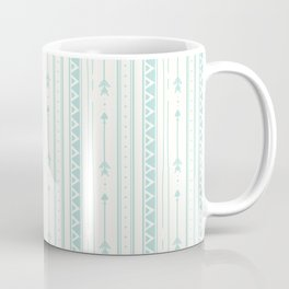 Blush green bohemian arrows zigzag geometrical Coffee Mug