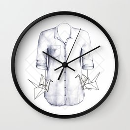 Thinking About Us Wall Clock