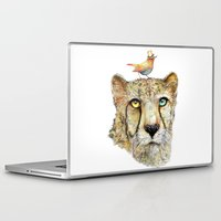 cheetah Laptop & iPad Skins featuring Cheetah by dogooder