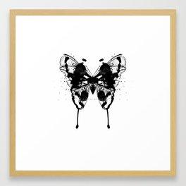 Butterfly Black Framed Art Print