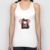 vegetarian Tank Tops featuring VEGETARIAN PAINTING by 13 DESIGN