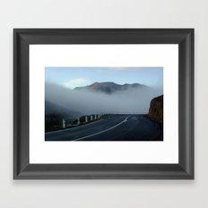 Cradle Top Mountain Framed Art Print
