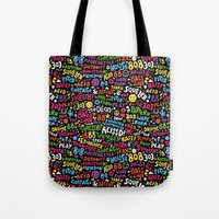 acid Tote Bags featuring Acid! by Barney Ibbotson