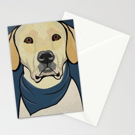 Icons of the Dog Park: Yellow Labrador Design in Bold Colors for Pet Lovers Stationery Cards