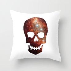 Gallexy Skull Throw Pillow