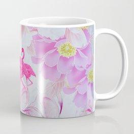 Pink watercolor flowers hand painted flamingo Coffee Mug