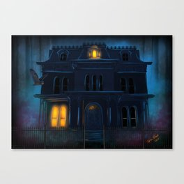 The Haunted Motel by Topher Adam 2017 Canvas Print