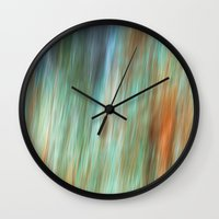 the flash Wall Clocks featuring Flash by Angela Fanton