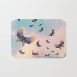Happiness is a butterfly Bath Mat