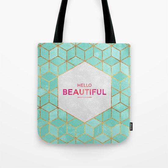 Hello Beautiful Tote Bag