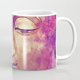 Trippy Buddha Face Painting in pink and orange for girls Coffee Mug