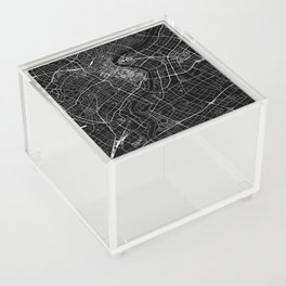Shanghai Black Map Acrylic Box