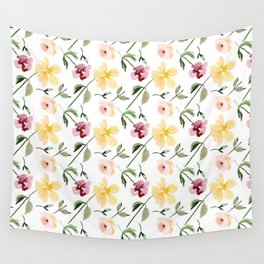 Watecolor Floral Repeat Pattern 1 Wall Tapestry