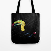 toucan Tote Bags featuring TOUCAN by ARCHIGRAF
