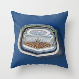 Vintage FORD Truck Badge Throw Pillow