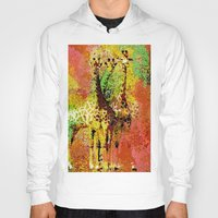 giraffe Hoodies featuring Giraffe  by Saundra Myles
