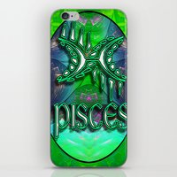 astrology iPhone & iPod Skins featuring Pisces Zodiac Sign Astrology by CAP Artwork & Design