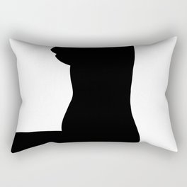 Nude silhouette figure - Nude black 002 Rectangular Pillow