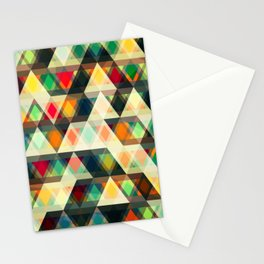 Gradient Triangles Mosaic Pattern Stationery Cards