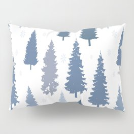 Pines and snowflakes pattern Pillow Sham