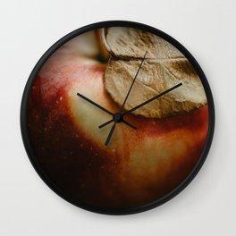 Apple Close Up Wall Clock