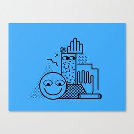 Still Life in Blue Canvas Print
