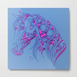Chiseled Pink Horse Metal Print
