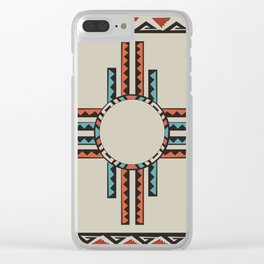 American Native Pattern No. 157 Clear iPhone Case