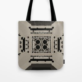 Beige and Black Perspective Tote Bag