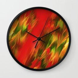 Melting in red / Sciogliersi nel rosso Wall Clock